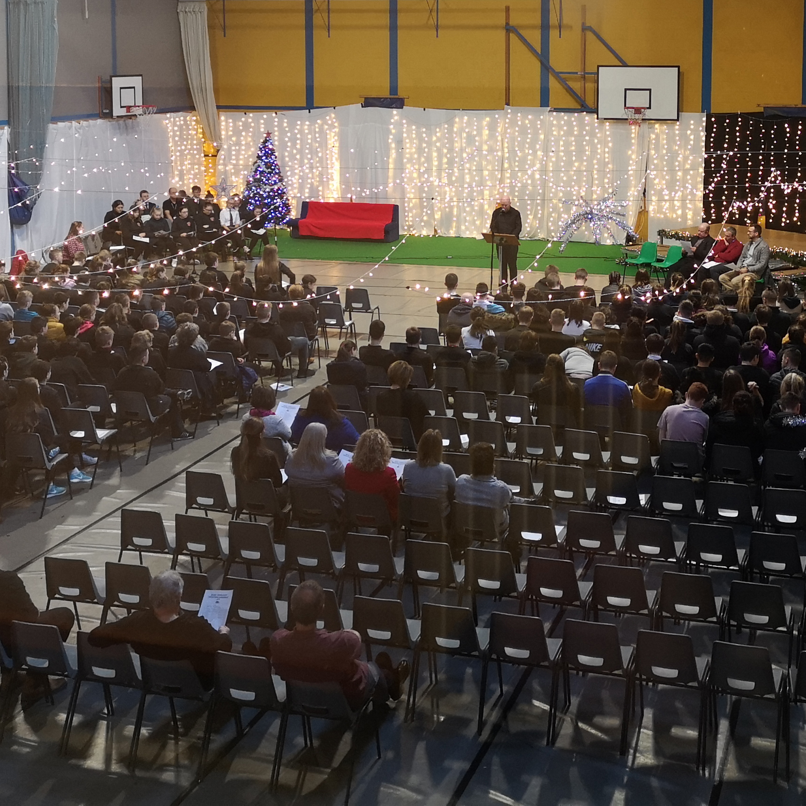 This image is of the school christmas assembly held on Thursday 19th December.